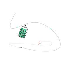feeder equipment for fishing vector image