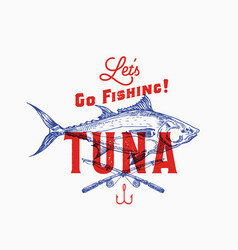 fishing tuna abstract sign symbol or logo vector image