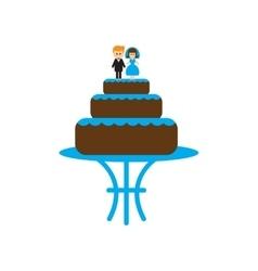 Flat web icon on white background wedding cake vector