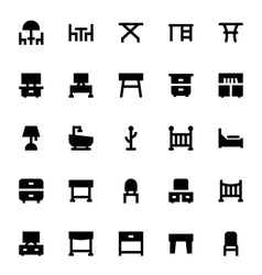 Furniture Icons 3 vector