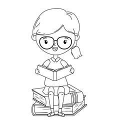 Girl kid school design vector