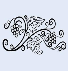 Grape ornament vector image vector image