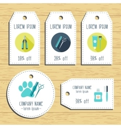 Grooming discount gift tags Ready to use Flat vector image