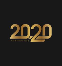 happy new year 2020 with gold display number vector image