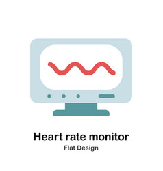 Heart rate monitor flat vector