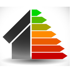 house with energy rating certificate energy vector image