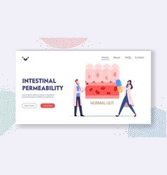 Intestinal permeability gut sickness landing page vector