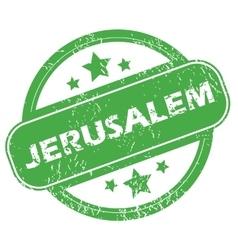 Jerusalem green stamp vector