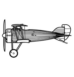 Lfg roland dix world war 1 fighter aircraft vector