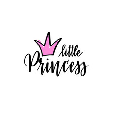 little princess calligraphy nice lettering vector image