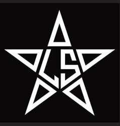 Ls logo monogram with star shape design template vector