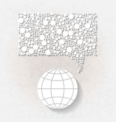 Minimalistic background with white speech bubble vector