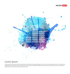 music sound wave icon - watercolor background vector image