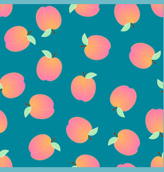 peach seamless on blue background vector image