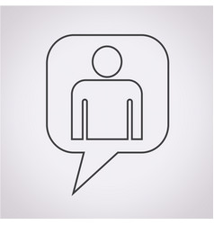person symbol user sign icon vector image
