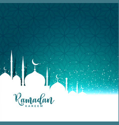 Ramadan kareem festival greeting with text space vector