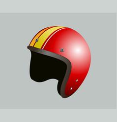 red motorbike helmet vector image