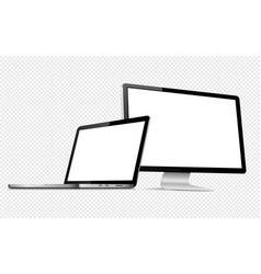 responsive web design computer display with laptop vector image