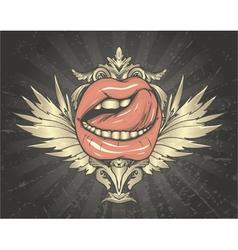 retro emblem vector image