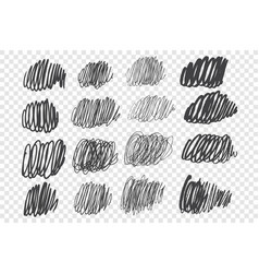scribbles and scrawls hand drawn doodle set vector image