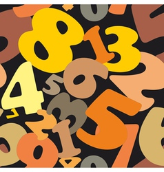 Seamless texture made of numbers vector