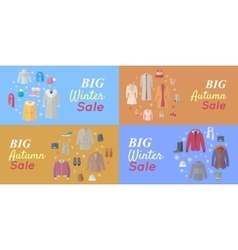 Seasonal Sales Concepts in Flat Design vector