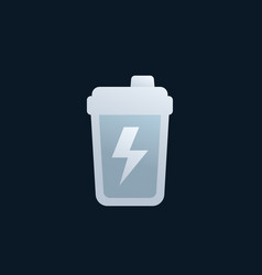 Shaker sports nutrition icon vector