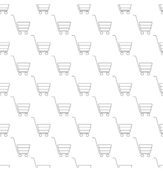 Shopping cart pattern seamless vector