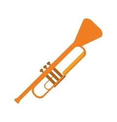 Single trumpet icon vector