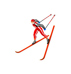 Skier clipart cross-country vector