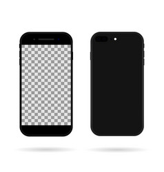 smartphone in back and front phone mockup vector image