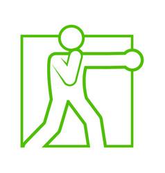 square shape boxing punch sport figure symbol vector image