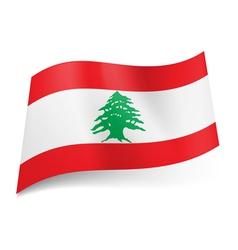 State flag of Lebanon vector image