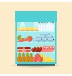 supermarket shelf flat vector image