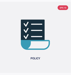 Two color policy icon from strategy concept vector