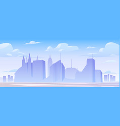 urban building skyline panoramic banner vector image