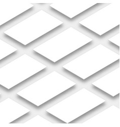 White empty rectangles horizontal orientation vector