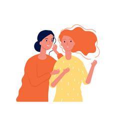 woman secrets ladies girlfriends speaking about vector image