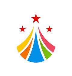 abstract loop star pride colorful logo vector image