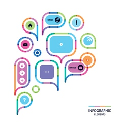 big speech bubble vector image vector image