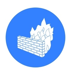 Firewall icon in outline style isolated on white vector