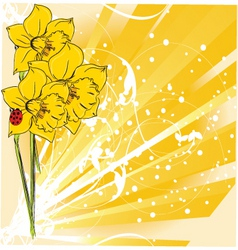 floral nature vector image