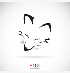 fox face design on a white background wild vector image vector image