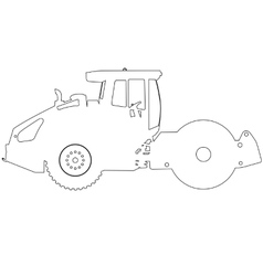 Silhouette of a road roller vector image vector image
