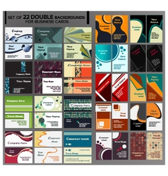 44 Backgrounds for business cards vector image