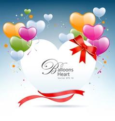 balloon heart card vector image vector image