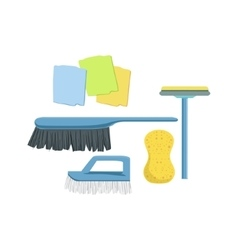 Cleaning Household Equipment Set vector image