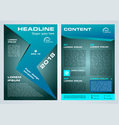 Flyer corporate business with blue arrow vector