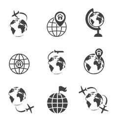 global communication icon set vector image