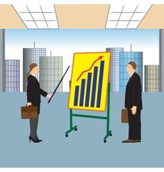 Meeting two businessmen Presentation vector image vector image
